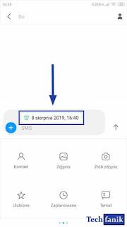 Xiaomi SMS MIUI 10 Informacja o opóźnieniu