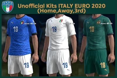 PES2020 Italy Euro 2020 Kits by Barangkuay