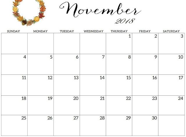 November 2018 Calendar, November 2018 Calendar Printable, November 2018 Calendar Template, Free November 2018 Calendar, PrintableNovember 2018 Calendar, November Calendar 2018, 2018 November Calendar, Calendar November 2018, November 2018 Calendar with Holidays, November 2018 Monthly Calendar
