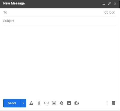 compose email me kya likhte hai