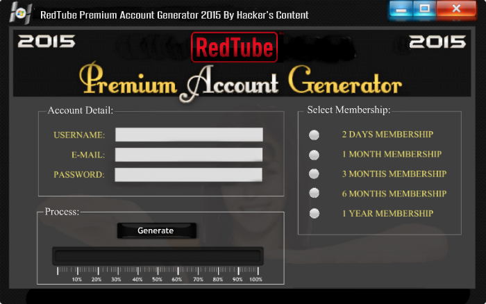 Free redtube account