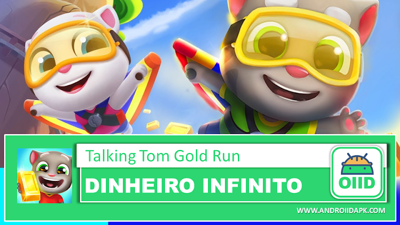 Talking Tom Gold Run v3.6.0.347 - APK MOD RACK - Dinheiro Infinito
