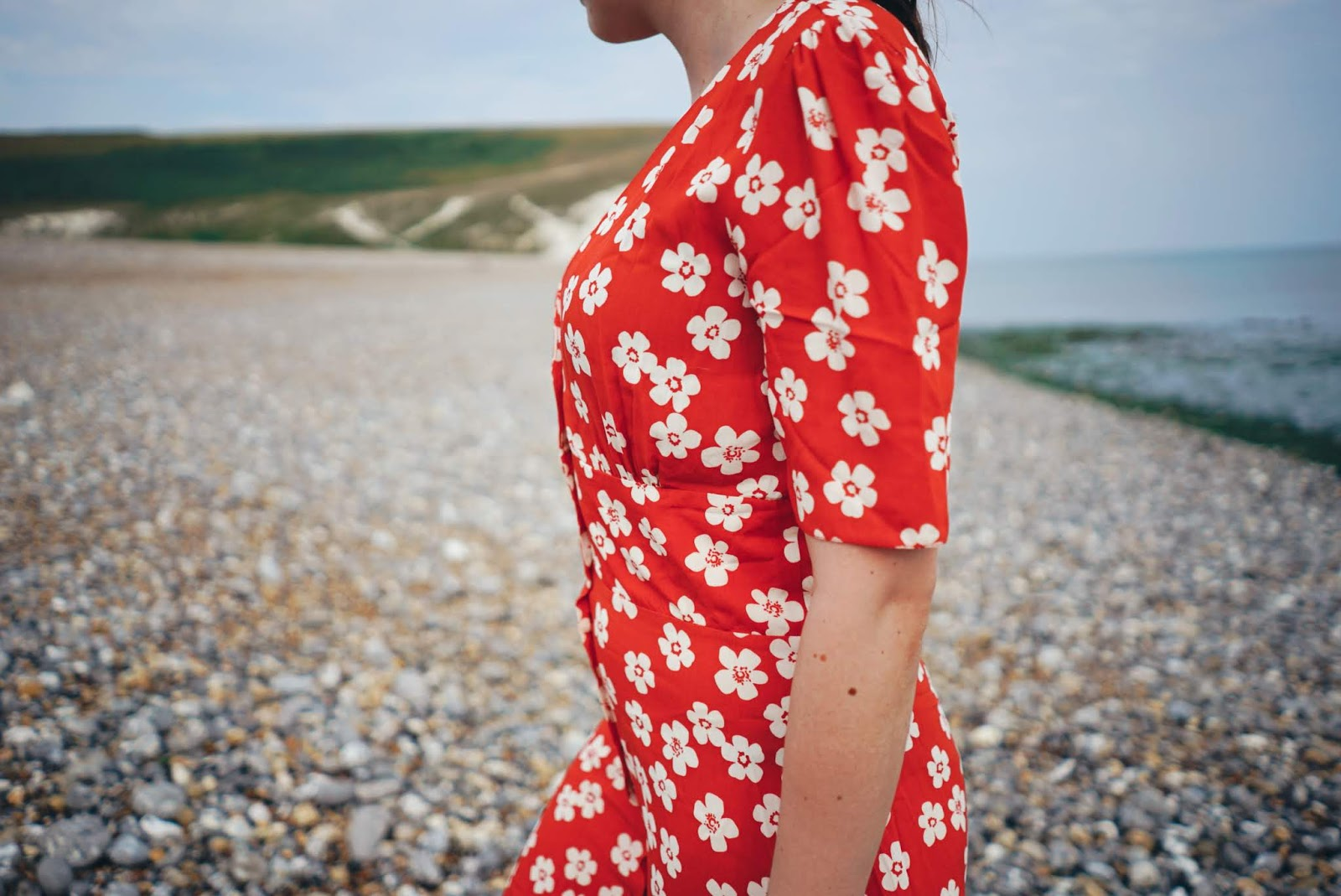 A Day At The Beach / Lauren Rose Style / Seven Sisters National Park / Summer Style Nobody's Child Red Dress