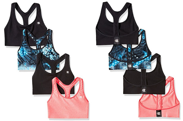 Champion Absolute Sports Bra Pack of 4 $39 (reg $90) - less than $10 each!