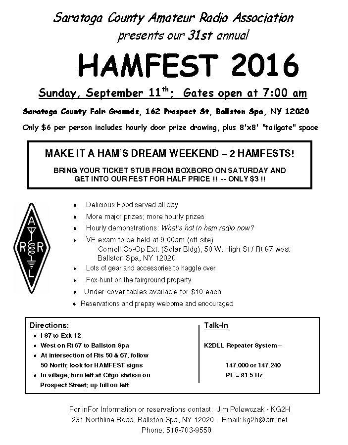 Upstate NY HAM Radio News & Information: July 2016