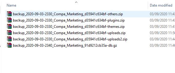 Tải file Backup về máy tính