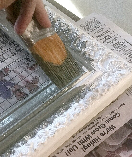 painting a frame with Fusion Mineral Paint