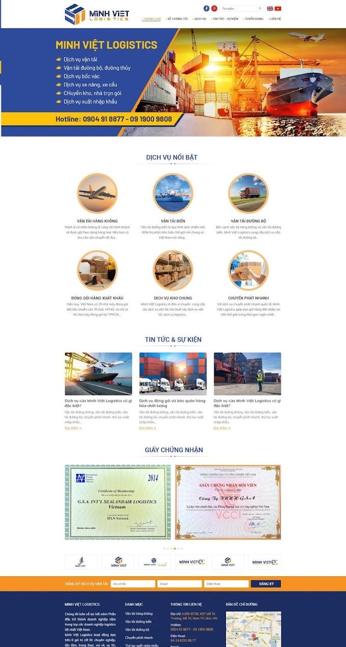 Mẫu website công ty vận tải