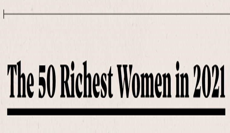 Mapped: The 50 Richest Women in the World in 2021 #infographic