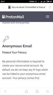 kebijakan privasi TOS atau Agreement email proton