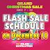 Lazada GRAND CHRISTMAS SALE Flash Sale Schedule (December 10)