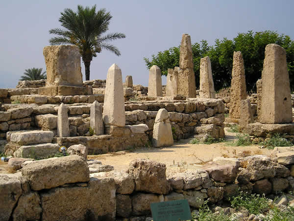 Ancient Byblos ruin, temple of the Obelisks