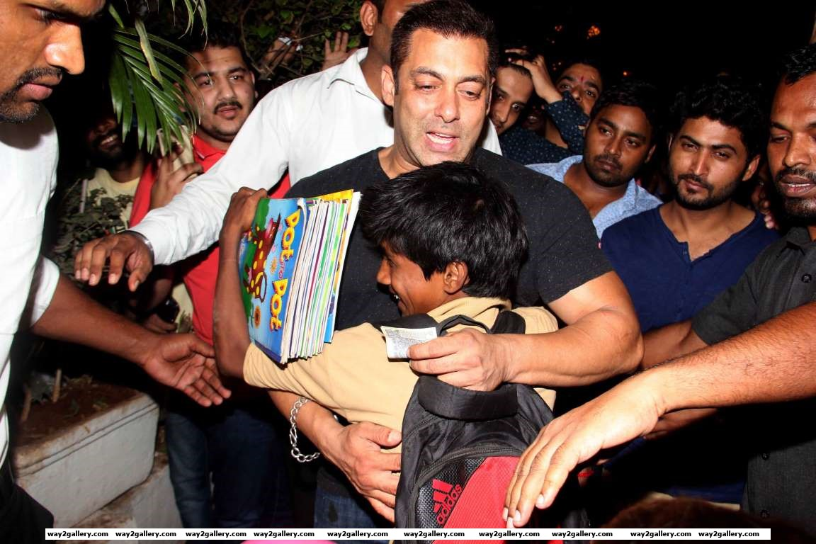 We spotted Salman Khan interacting with young fans outside Bandras Olive Bar