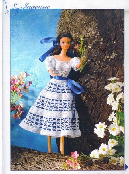 Crochê Para Barbie Vestido Ingénue Com Gráfico