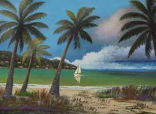 pinturas-en-acrílico-escenas-de-playas pinturas-paisajes-playas