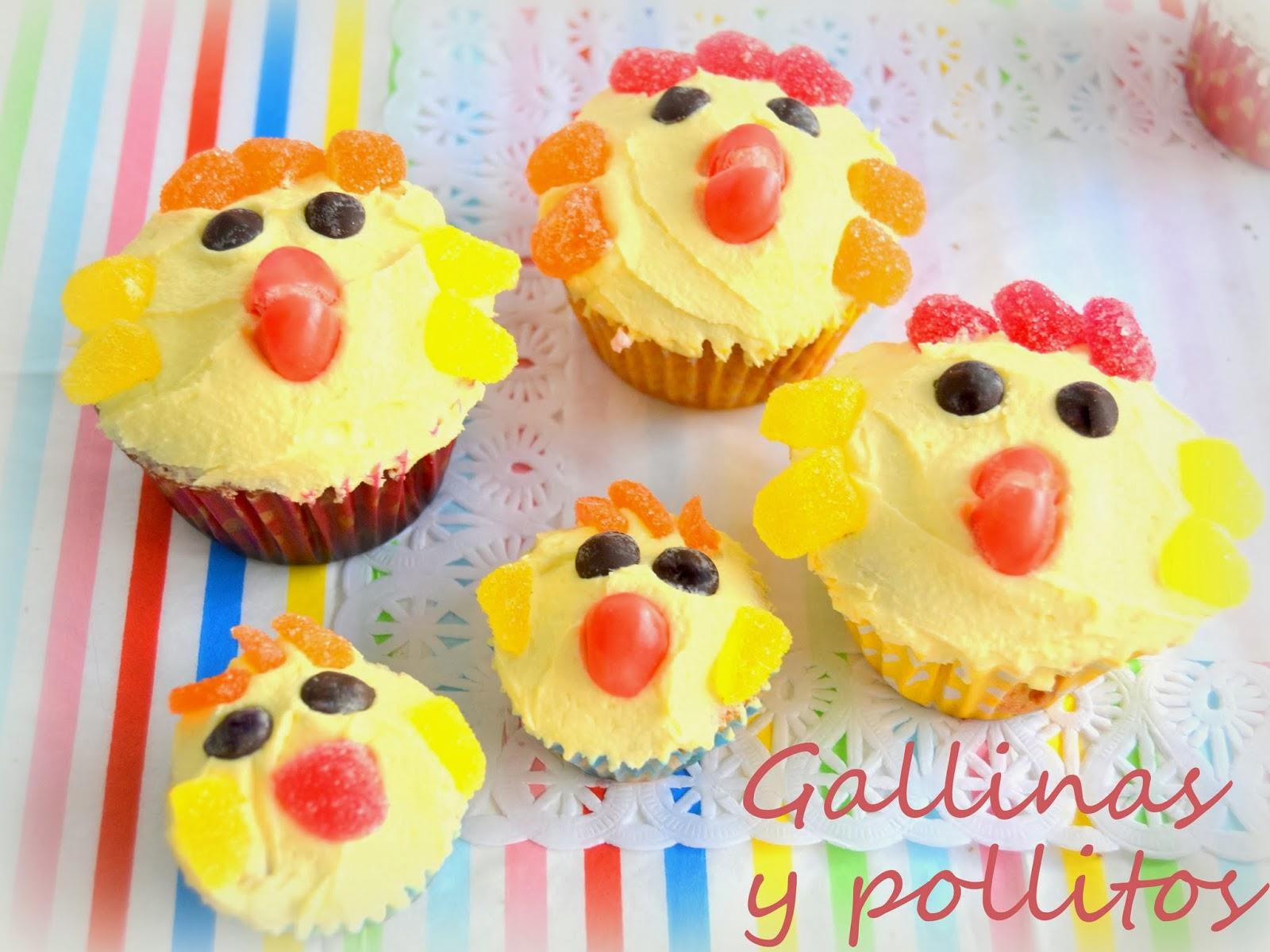 Cup Cakes Decoradas De Animalitos Gallinas Cerditos Y