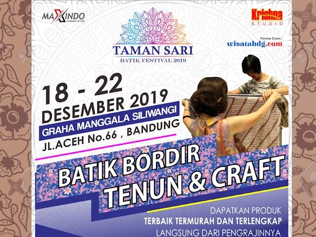 Taman Sari Batik Festival Digelar Desember 2019 di Graha Manggala Siliwangi