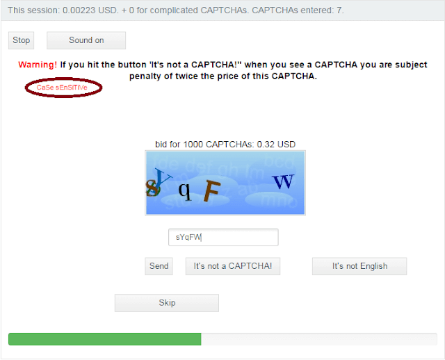 Be aware of case sensitive captchas on 2 Captcha