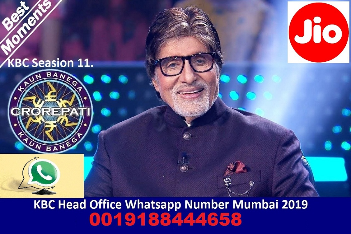 Jio Lottery Winner 2019 - Jio KBC Head Office Number 0019188444459