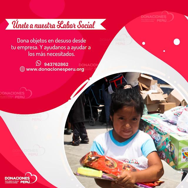 labor social - donaciones peru