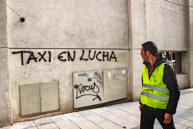 Huelga taxista de madrid, taxis de madrid, huelga, Alex Jimenez