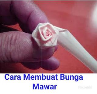 Gambar Bunga Mawar Dari Sedotan Plastik