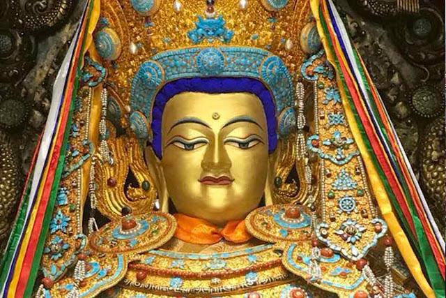 Jowo Shakyamuni Statue at Jokhang in Lhasa, Tibet