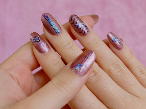 Des licornes en water decals