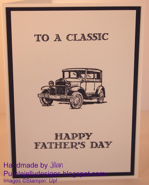 Stampin' Up! Father's Day card using Guy Greeting stamp set, Classic car