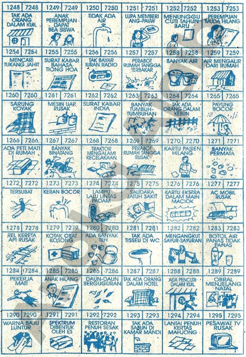 Buku Mimpi 4D Bergambar 1248-1295