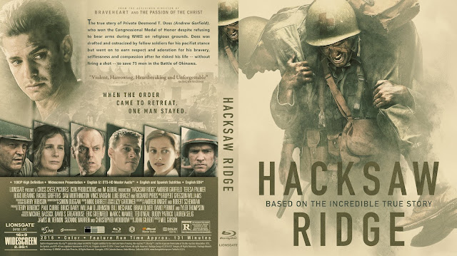 Hacksaw Ridge Bluray Cover