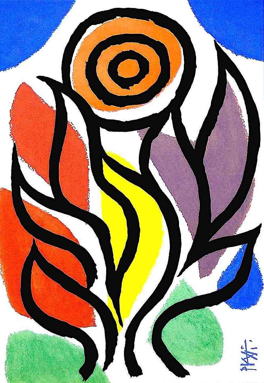 a Celestino Piatti illustration of a flower