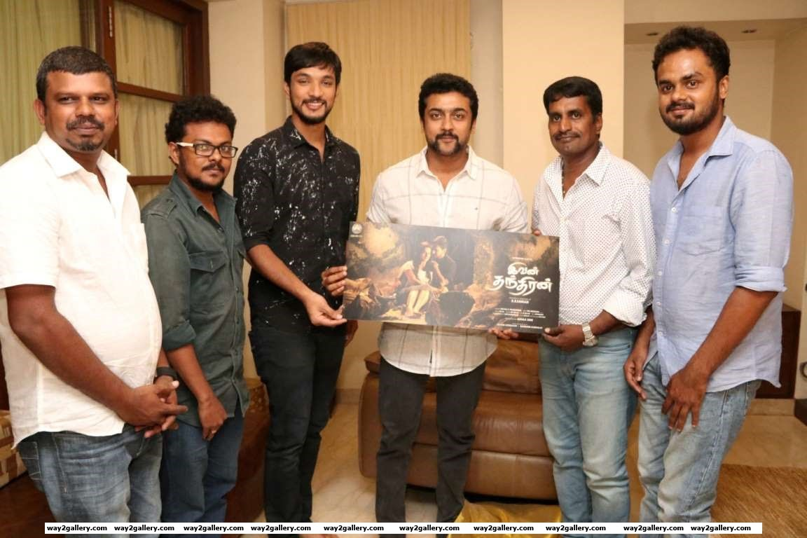 Suriya launched the first look of Tamil film Ivan Thandhiran