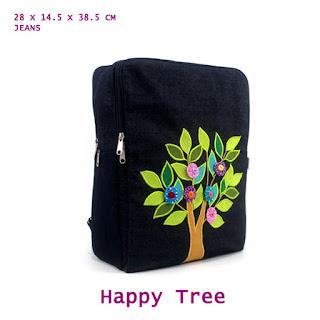 tas ransel bahan jeans, tas lucu, tas anak, tas ransel unik
