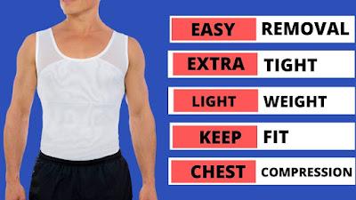 Men's Chest Compression body shapewear