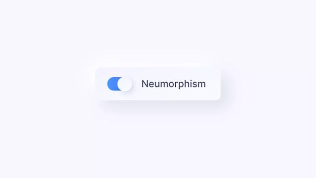 Neumorphism Toggle Switch