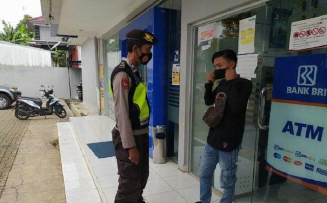 Polisi Himbau Nasabah Bank Patuhi Protokol Kesehatan