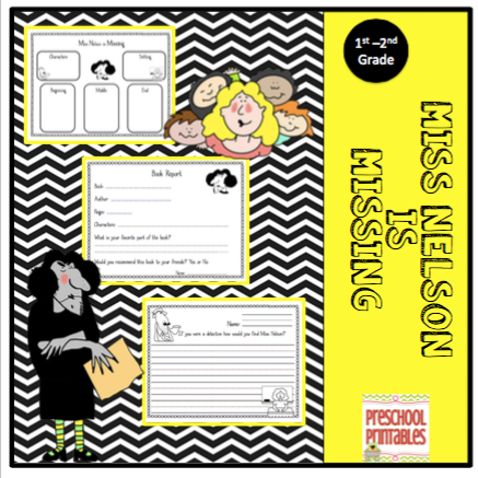 Miss Nelson Is Missing Writing Templates