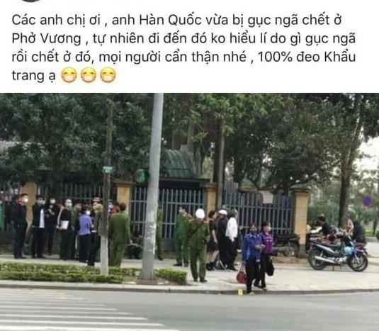 """Thông tin về vụ """"người Hàn Quốc chết bên vệ đường ở Bắc Ninh do Covid-19"""""""