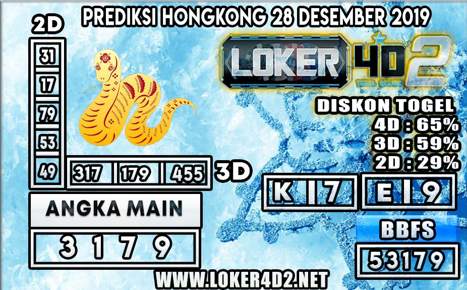 PREDIKSI TOGEL HONGKONG LOKER4D2 28 DESEMBER 2019