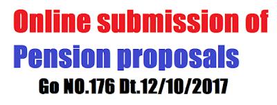 Online submission of Pension proposals Go NO.176 Dt.12/10/2017