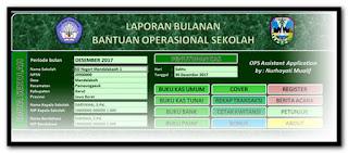 Aplikasi Laporan Bulanan BOS Gratis Format Excel