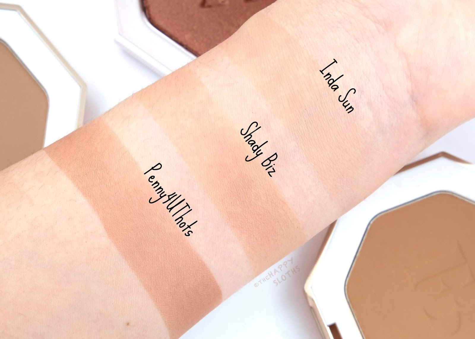 "Fenty Beauty by Rihanna | Sun Stalk'r Instant Warmth Bronzer in ""Inda Sun"", ""Shady Biz"" & Killawatt Foil Freestyle Highlighter in ""Penny4UThots"": Review and Swatches"
