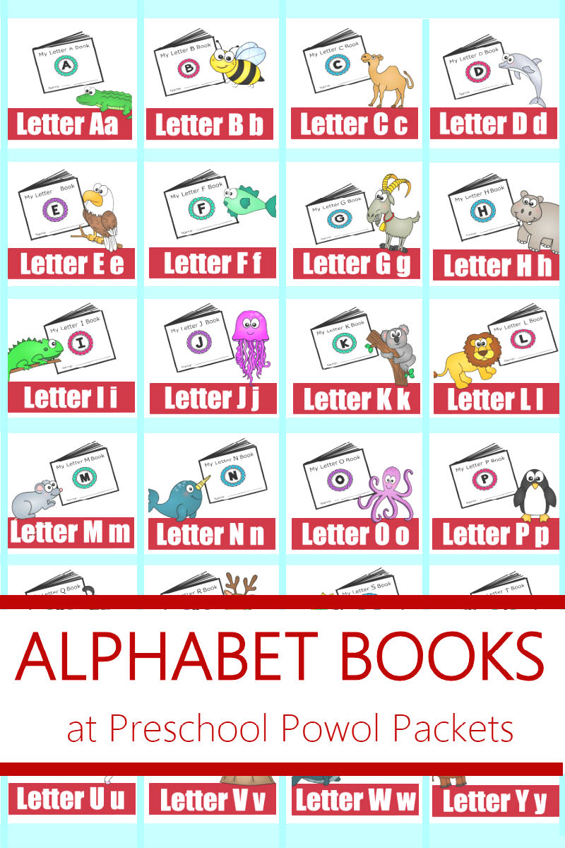 picture about Free Printable Alphabet Books called ALPHABET! No cost Printable Mini Textbooks Preschool Powol Packets