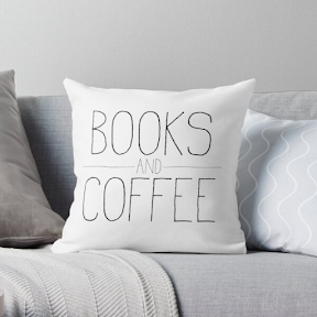 Books and Coffee decor pillow