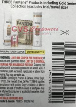 "$5/3 Pantene Products Coupon from ""P&G"" insert week of 8/25 (EXP:9/7)."