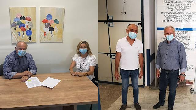 Τα Νοσοκομεία Ναυπλίου και Άργους επισκέφθηκε ο βουλευτής Αργολίδας Γιάννης Ανδριανός