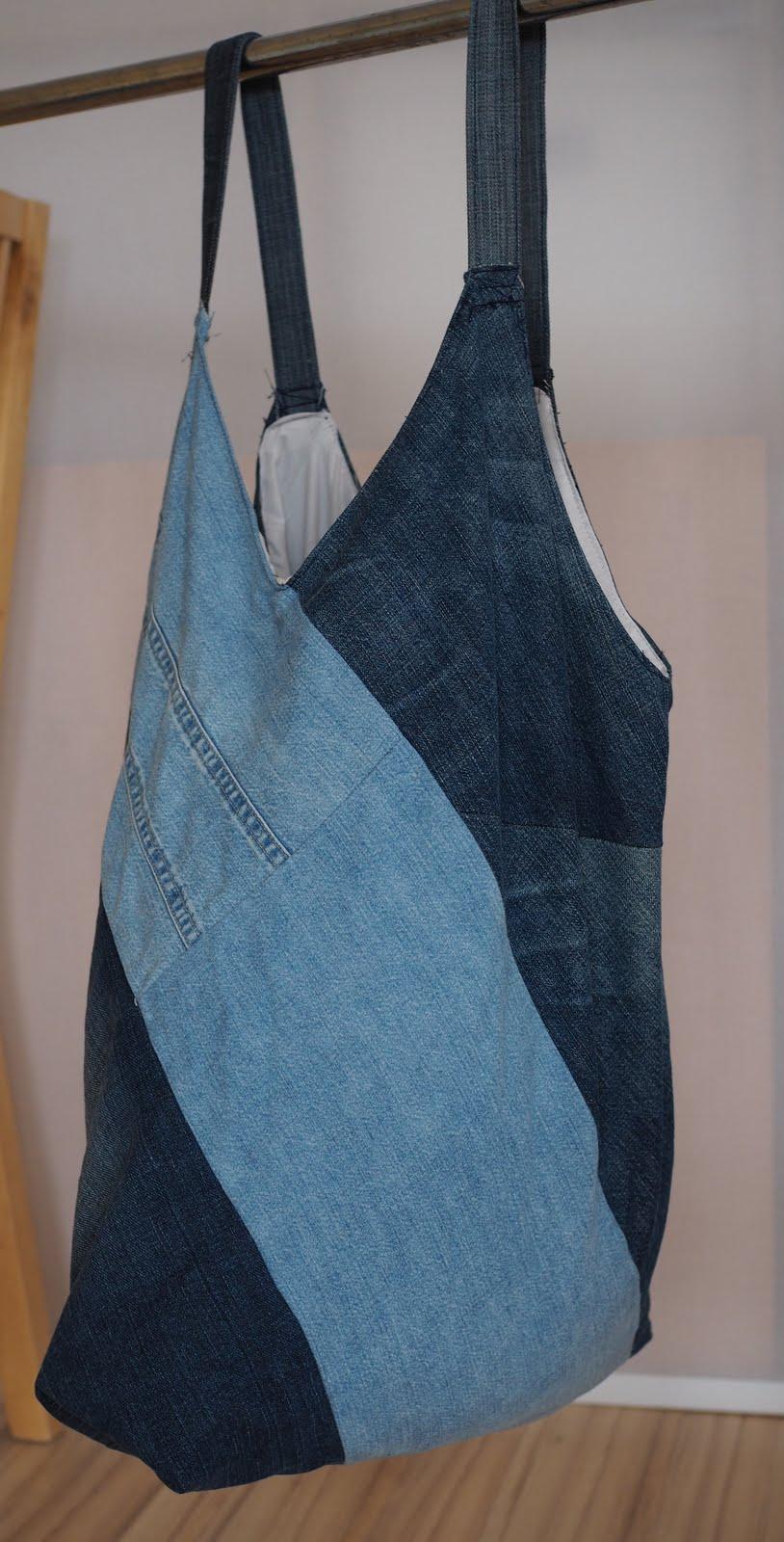 kuestensocke mit der alten jeans zum einkaufen. Black Bedroom Furniture Sets. Home Design Ideas