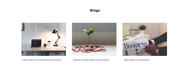 Portfolio Website Design - Vijay Thapa (Blog Section)