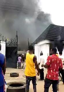 Hope Uzodimma's house is set ablaze